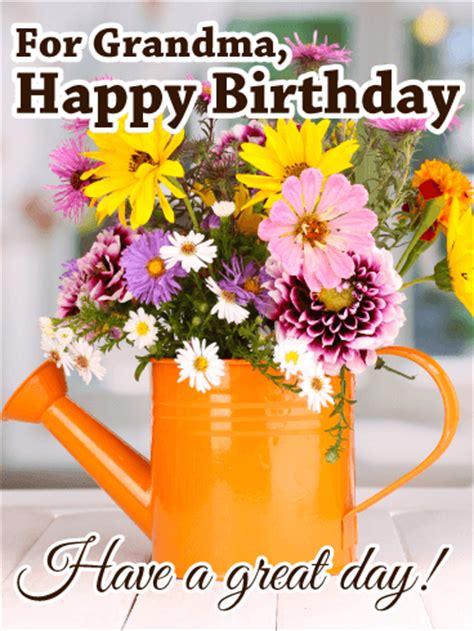 great day happy birthday card  grandma