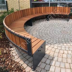 Contemporary Timber Steel Outdoor Circular Seating Area