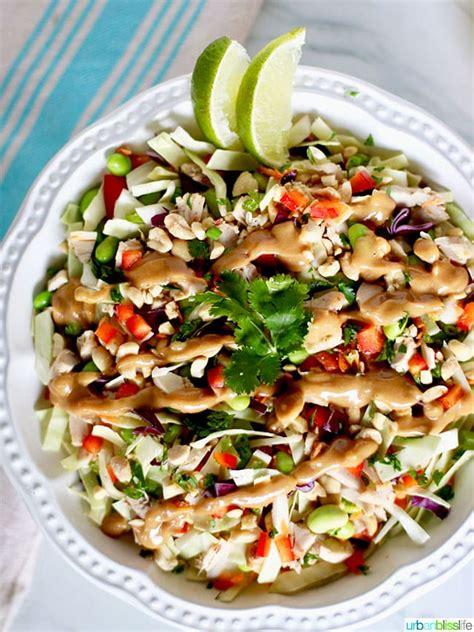 thai chicken salad  peanut dressing cpk copycat recipe