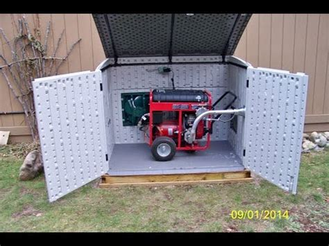 Generac Portable Generator Shed by Generac Generator Installed In A Suncast Garden Shed For
