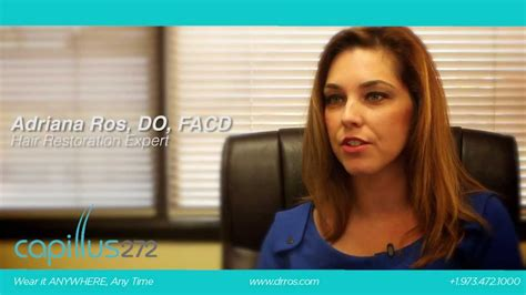 hair loss dermatologist capillus physician dr adriana ros discusses hair restoration youtube