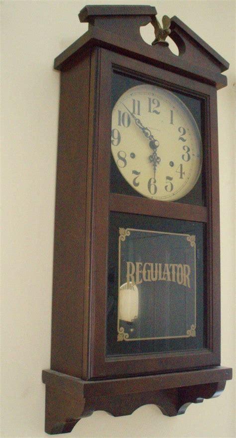 hamilton regulator wall mount  day pendulum clock