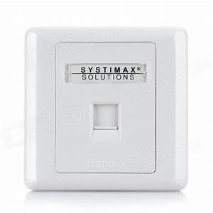 Systimax Single Port Rj45 Network Module Front Plate