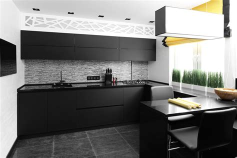 black matte kitchen designs   steal  attention