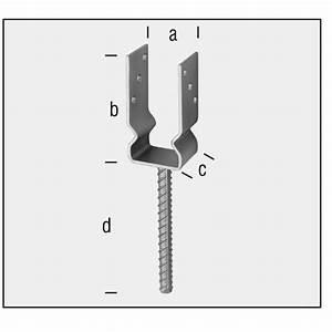 Support De Poteau : support de poteau forme u fixation des poteaux ~ Melissatoandfro.com Idées de Décoration