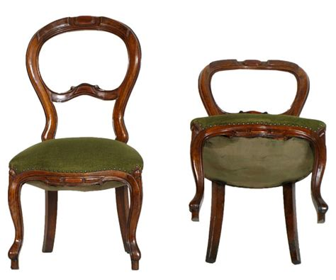 Pair Chairs Seats Chamber Louis Philippe Walnut First' 900