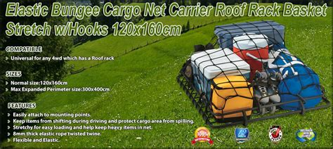 elastic bungee cargo net carrier roof rack basket stretch whooks xcm