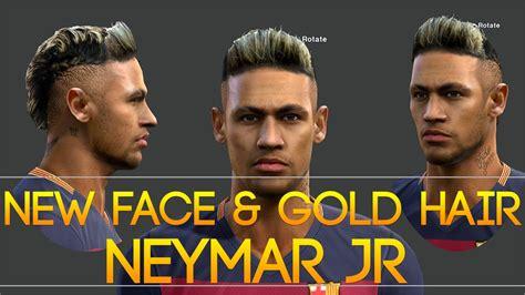 face gold hair neymar  pes   radim