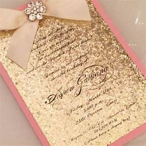 glitter invitation for any event by aspencollectionbyal on With red and gold glitter wedding invitations