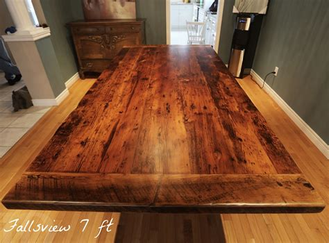 reclaimed wood  plank post table  grimsby ontario