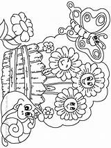 Coloring Garden Pages Butterfly Gardens Flower Preschool Flowers Drawing Colouring Getdrawings Printable Gardening Sheets Adult Spring Printables Prints Secret Gareden sketch template