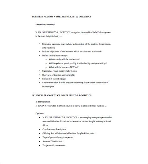 Small Business Plan Template  17+ Free Sample, Example