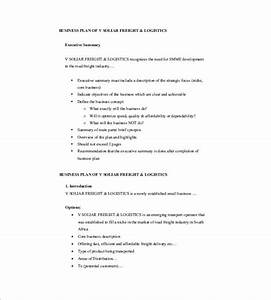 small business plan template 12 free word excel pdf With business plan template for logistics company