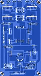 High Power Audio Amplifier Layout Diagram