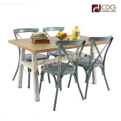vintage rustic industrial style aluminium outdoor dining