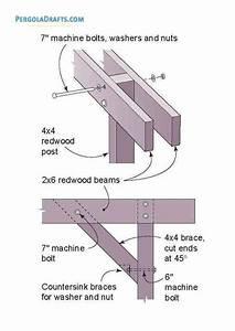 Diy Pergola Building Plans Blueprints For 6 U00d79 Free