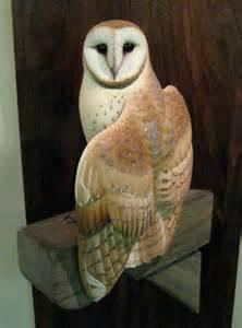 Barn Owl Wood Carving