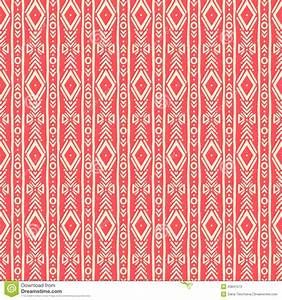 Striped Tribal Pink Pattern Stock Vector - Image: 43841573