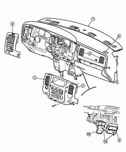 2004 Dodge Ram 2500 Adapter  Defroster Duct  Air  Ducts