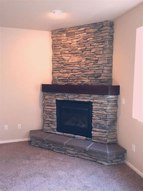stone fireplace makeover cornerstonefireplacelivingroom