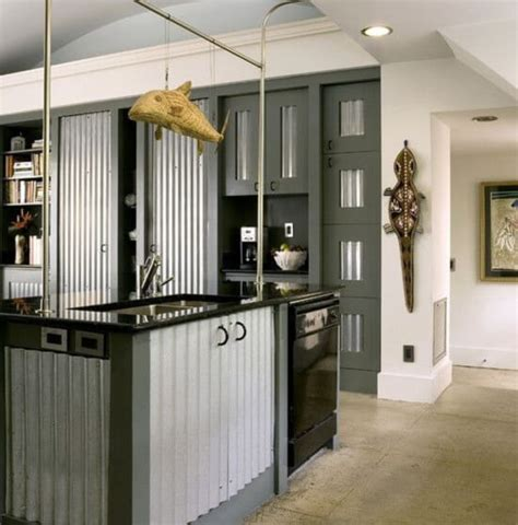 corrugated metal kitchen island corrugated metal ideas for the home insteading 5883