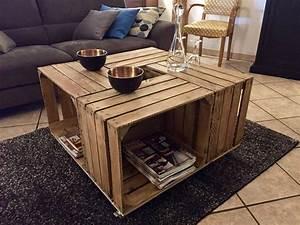 Caisse De Pomme : des tables basses base de caisses pommes blog decoration maison ~ Teatrodelosmanantiales.com Idées de Décoration
