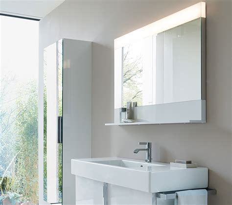 Bathroom Mirror With Shelf And Light by Duravit Vero 450 X 800mm Mirror With Light And Below Shelf