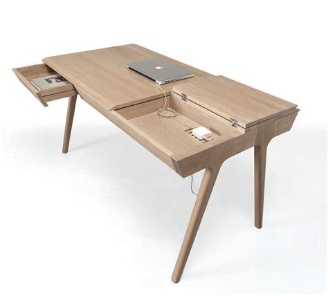 metis  solid wood desk  plenty  storage design milk