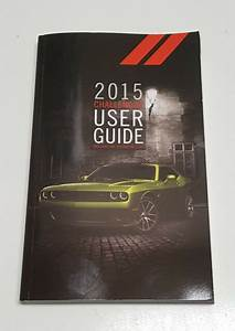 2015 Dodge Challenger Owners Manual Srt 392 Hellcat R  T