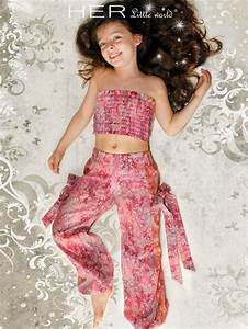 children39s sewing pattern trousers and strapless sun top With robe exotique