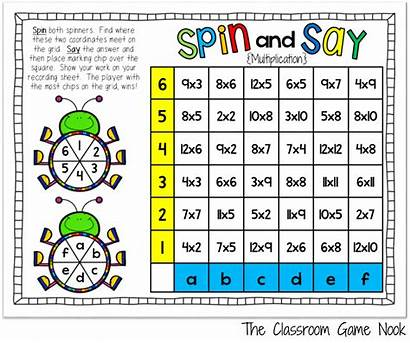 Math Games Operations Spin Say Classroom Addition