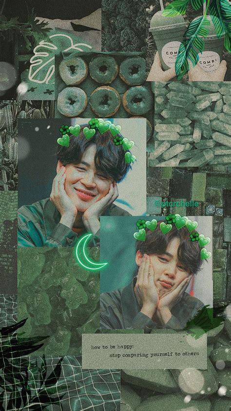 park jimin cute mochi  green aesthetic tumblr lockscreen