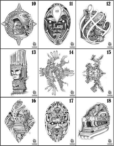 Pick 5 Aztec Flash Art For Tattoo Supply Ink Needles Ebay