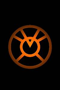 Orange Lantern Logo background by KalEl7 on DeviantArt