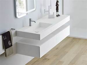 Console Murale Suspendue : unico waschbecken mit waschtisch by rexa design design ~ Premium-room.com Idées de Décoration