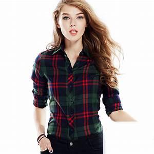 De manga larga camisa a cuadros mujeres para mujer de cuadros mujeres celular para mujer blusa ...