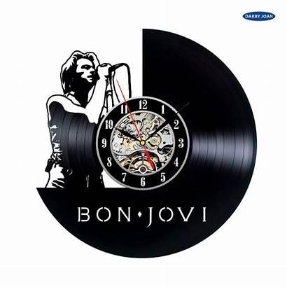 Clock Jovi Bon Fans Vinyl Handmade Gift