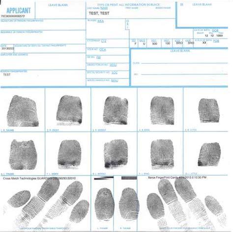 Fbi Fingerprint Background Check Fbi Ink Fingerprinting
