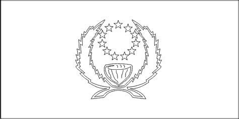 Pohnpei Flag Coloring Picture