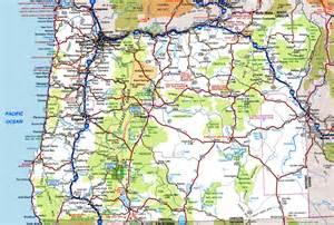 Oregon Highway Road Map