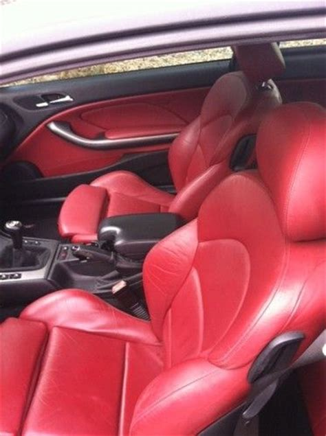 sell   bmw   coupe jet black imola red interior