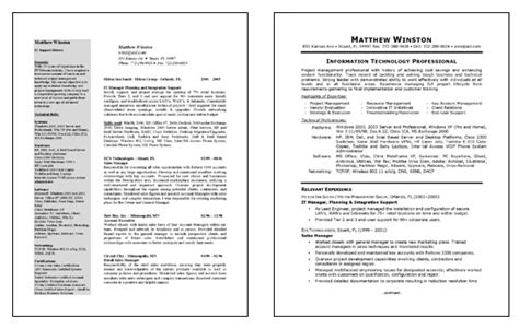 Exle Resume Of It Manager by It Manager Resume Exle