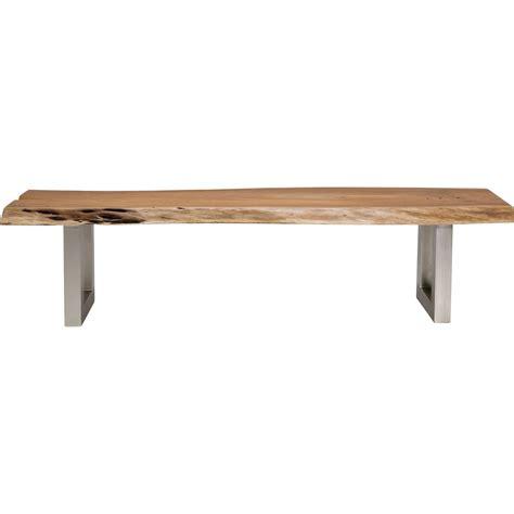 banc de cuisine en bois banc en bois nature line kare design