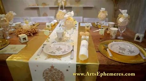 decoration de table de noel  arts ephemeres youtube