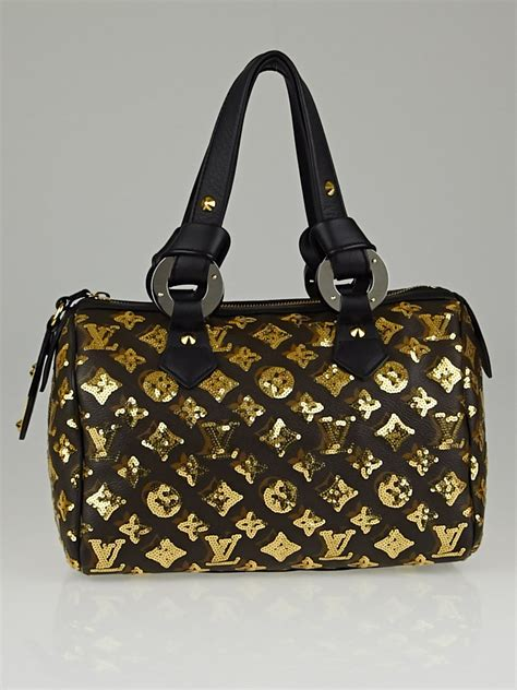 louis vuitton limited edition gold monogram eclipse speedy
