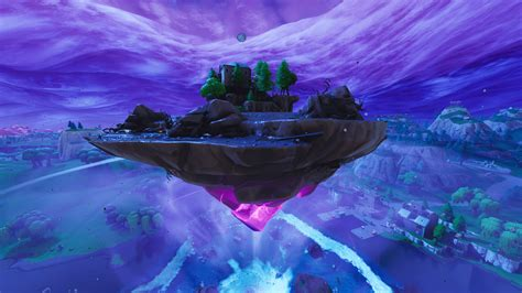fortnite island floating moving map weird cube kevin craters wallpapers leaving gamespot take