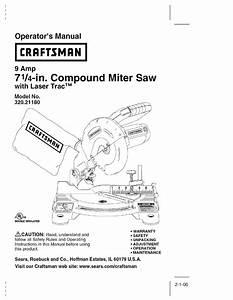 Craftsman 320 21180 Operator S Manual