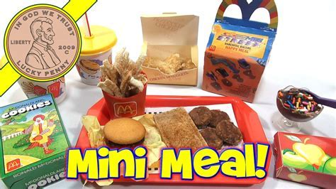 McDonald's Mini Happy Meal   Complete Toy Food Maker   YouTube