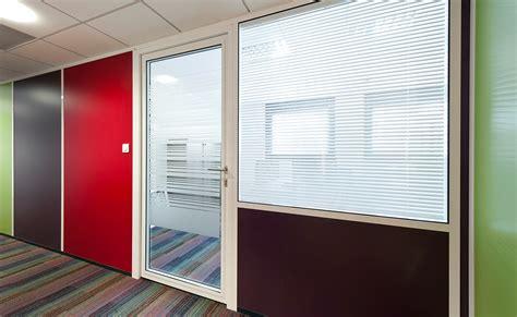 cloison vitr馥 bureau cloison de bureau espace cloisons alu ile de agencement et amé agement de bureaux en cloison amovible
