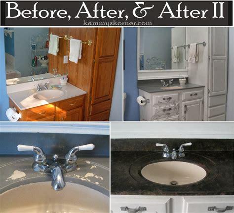 bathroom vanity paint ideas kammy 39 s korner painting a porcelain vanity countertop